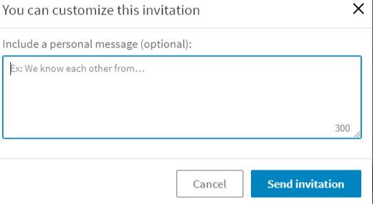 Tilføj besked ved anmodning på LinkedIn